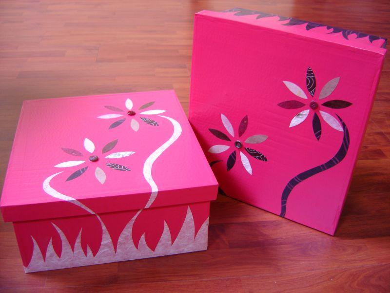 Recyclons pour decorer cr ations en carton - Comment decorer une boite a chaussure ...